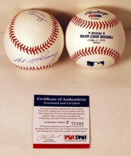 Mitt and Ann Romney Dual Signed MLB Baseball PSA COA 2012 President