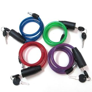 Colors Universal Coil Cable Bike Cycle Bicycle Security Lock Fixing