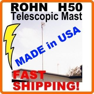 H50 ft Foot Feet Telescoping Telescopic Outdoor TV Antenna Mast Mount
