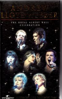Andrew Lloyd Webber Royal Albert Hall Celebration VHS PAL Video