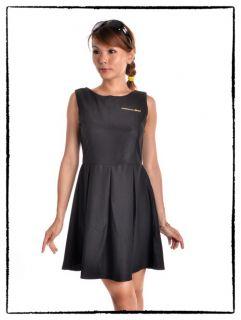 New Classy Audrey Vintage 60s Black Rockabilly Hepburn Style Dress Sz