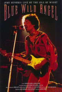 JIMI HENDRIX BLUE WILD ANGEL MOVIE POSTER 1 Sided ORIGINAL 27x40