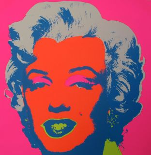 Andy Warhol Marilyn Monroe Serigraph by Sunday B. Morning #6