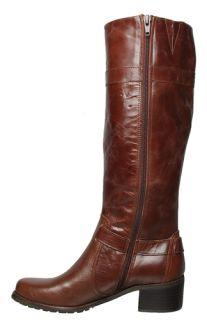 Anne Klein Womens Boots Edith Dark Brown Leather Sz 10 M