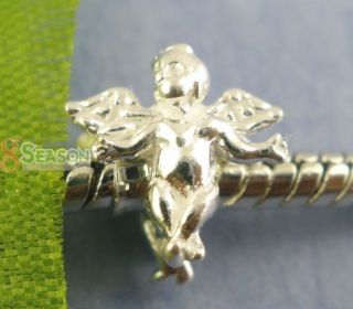 925Sterling Silver Angel Charms European Beads Fit Charm Bracelet