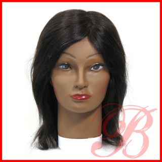 Annie 100 Human Hair Mannequin Head Holder Training for Styling 4808