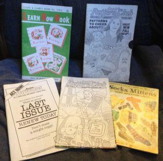 Vintage Crochet Books Magazine Annie s Pattern Club Coats Clark Lot 5
