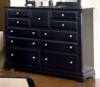 Vaughan Bassett Cottage Antique Black Queen Bedroom Set