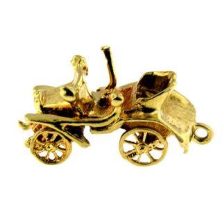 14 KT Yellow Gold 3D Antique Car Charm