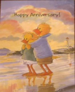 Suzys Zoo Anniversary Greeting Card Lizzie and Lester