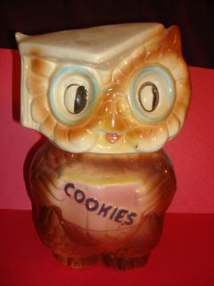 Vintage Collegiate Graduate Owl Cookie Jar