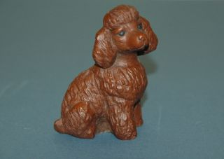 Red Mill Mfg Poodle Dog Figurine Handcrafted Animal Figure