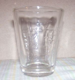 VINTAGE MEDICINE MEASURING CUP SHOT GLASS AMERICAN HOSPITAL SUPPLY