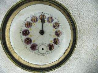 Very Fancy Jeweled Antique Paperweight Clock as Is