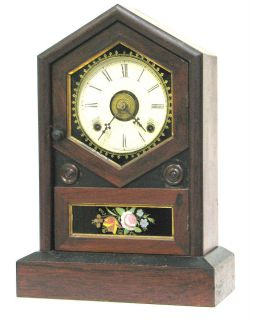 Antique JEROME & CO Pendulum Clock (Alarm) 1870s Excellent Cond Works