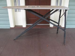 vintage antique all wood wooden ridjid ironing board