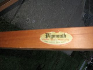 Antique Plymouth New York Wooden Ironing Board with Original Label