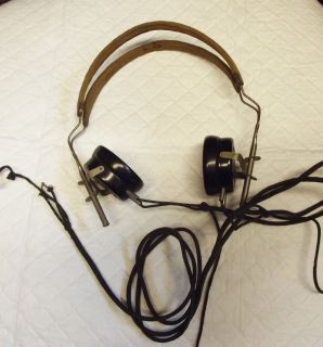 antique TUBE RADIO HEADPHONES FOR PARTS OR REPAIR FROST FONES