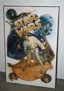 Star Wars ANH 10th Ann Lim Ed Poster One Sheet Signed Drew Struzan