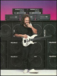 VAN HALEN MICHAEL ANTHONY 1989 MESA BOOGIE BASS 400 AMPS AD 8X11