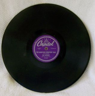 Capital 78 Record by Ray Anthony The Darktown Strutters Ball Veloa