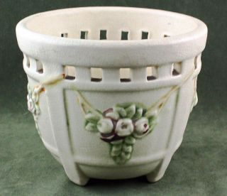 Fine Antique Weller Pottery Floral Motif Small Jardiniere Planter