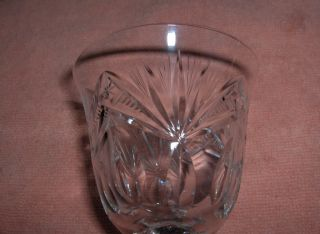 Antique Vntg Nachtmann Lead Crystal Bleikristall Wine Glasses