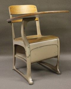 Vintage Metal Wood School Desk Quantity Available & FedEx