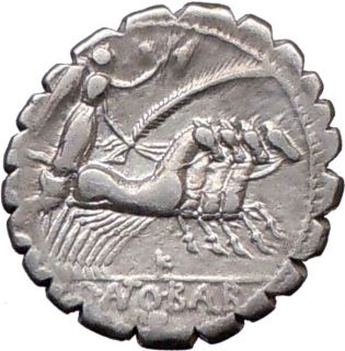Roman Republic Q Antonius Balbus 83BC Silver Coin