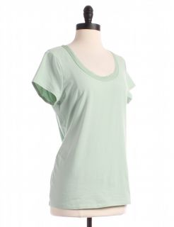 green t shirt by ann taylor size l green short sleeve t shirts price $