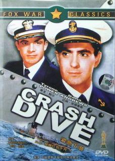 Crash Dive Tyrone Power Anne Baxter 1943 New DVD