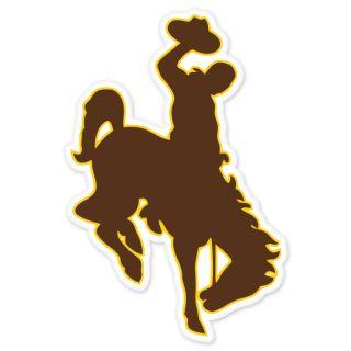 Wyoming Cowboys Car Bumper Sticker 3 x 5