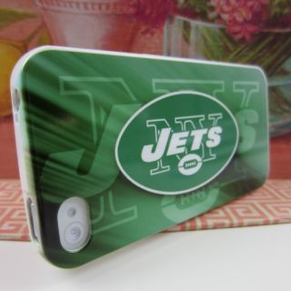 Apple iPhone 4 4S 4G New York Jets Green Rubber Silicone Skin Case