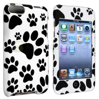 Dog Paw Black Hard Case Cover for iPod Touch 3rd Gen 3G 2nd 2G