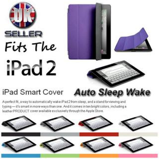 Smart Cover Case Stand with Sleep Wake for Apple New iPad 3 iPad 2