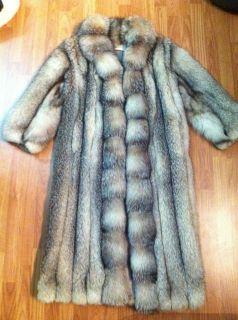 100 Custom Authentic Antonovich Silver Fox Fur Full Length Coat Orig $
