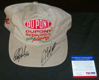 Jeff Gordon Signed Dupont Racing Tan Hat PSA DNA