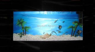 Plasma Wall Mount Fish Tank Aquarium Hanging Art Black