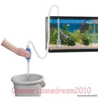 Siphon Vacuum Pump For Aquarium Fish Tank Gravel Water Cleaning Change