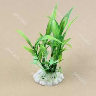 Aquarium Embellished Decor Green Plastic Grass Fish Tank Landscape