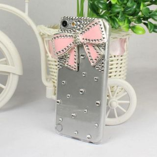 Crystal Rhinestone Hard Case Cover For Apple ipod Touch 5 5G 5TH Pink