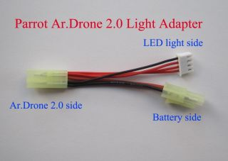 Parrot AR Drone 1 0 2 0 Upgrade LED Light Kit Power Adapter Cable