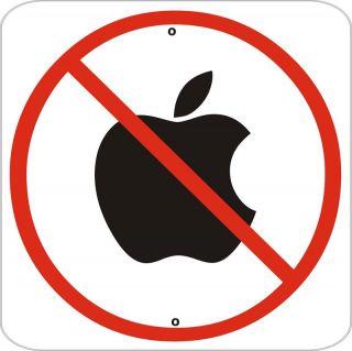 No Apple Computer Sign Metal Exterior Quality 12x12 New