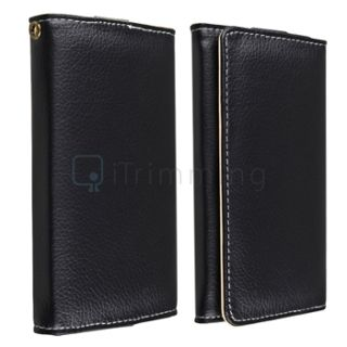 Luxury Wallet Leather Case Cover Pouch for iPod Touch 4 4G 5 5g 5th