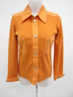 you are bidding on a rani arabella orange cashmere button up sweater
