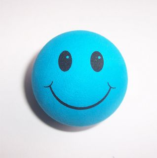 Blue Smiley Happy Face Gift Antenna Toppers Balls Car Accessory