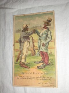 ARBUCKLE COFFEE BLACK AMERICANA VICTORIAN ADVERTISING TRADING CARD 52