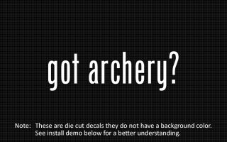 this listing is for 2 got archery die cut decals default color is