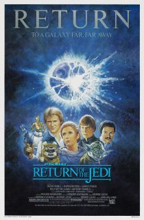 STAR WARS RETURN OF THE JEDI MOVIE POSTER 1 Sheet R1985 ORIGINAL 27x41