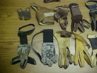 Lot 18 Archery Bow 3 Finger Gloves Tab Arm Guard Bear Ben Pearson